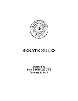 IMG: Senate Rules cover page