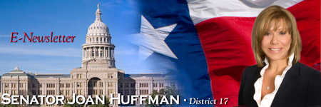 Sen. Huffman's E-Newsletter signup banner graphic