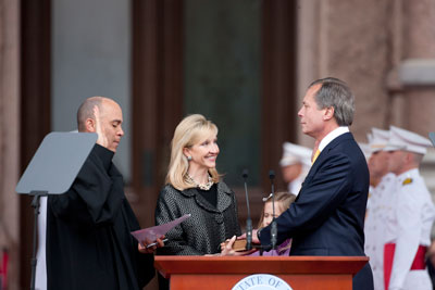 Lt. Governor David Dewhurst sworn into third term.