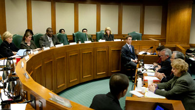 Local school officials appeared Tuesday before the Senate Education Committee