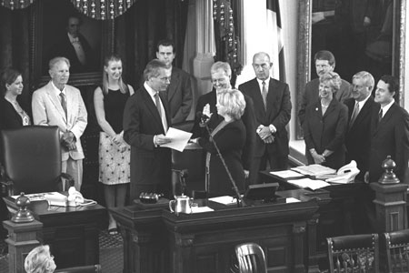 Senator Jane Nelson swearing-in