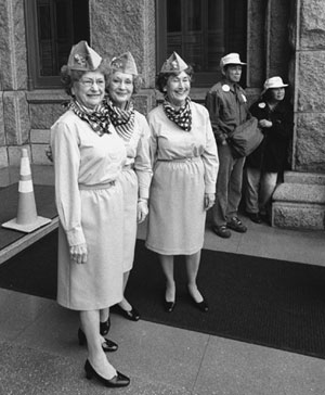 Three ladies were part of the group of 1200 that reminded lawmakers of the contributions
