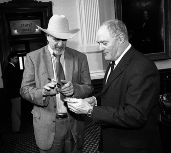 Senator Seliger and musician Ray Benson