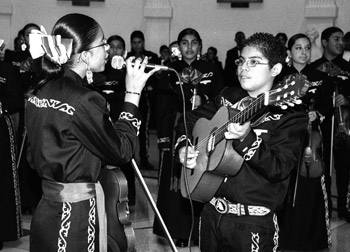 Irving Middle School Mariachi Band performs in the Capitol Rotunda